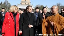 China Besuch Macron Pagode