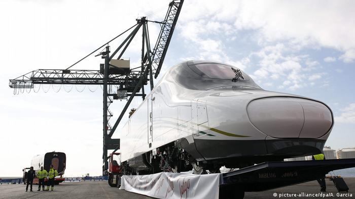 Saudi-Arabien Hochgeschwindigkeitszug Haramain Express (picture-alliance/dpa/A. Garcia)