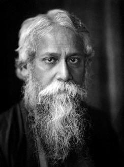 Rabindranath Tagore (1861 - 1941) undatierte Aufnahme