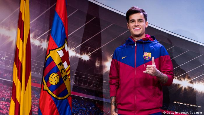 Fußball FC Barcelona Spieler Philippe Coutinho (Getty Images/A. Caparros)