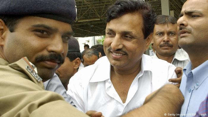 Indien Politiker Amarmani Tripathi (C) (Getty Images /AFP/P. Singh)