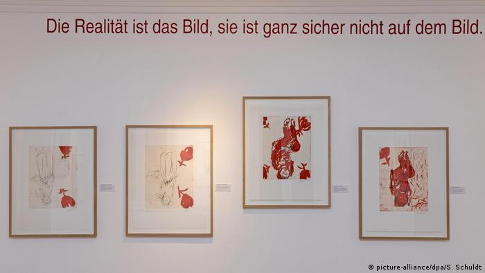 Baselitz works of the cycle CDF, 1998/99 (picture-alliance/dpa/S. Schuldt)