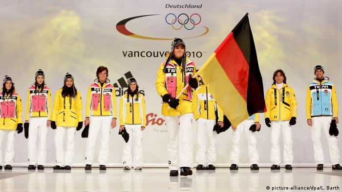 Форма немецкой сборной на Олимпиаде в Ванкувере