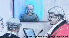 Sketch of Barry Bennell trial in Liverpool (picture-alliance/empics/Elizabeth Cook)