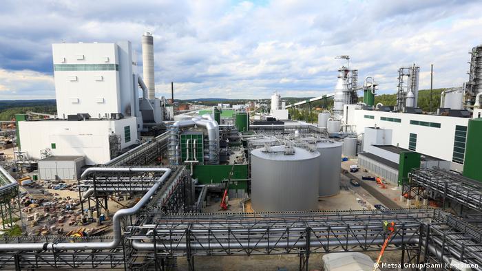 Industrial facilities at the Äänekoski Metsä bioproduct mill in central Finland (Metsä Group/Sami Karppinen)