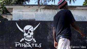 Piratenlogo in Mombasa