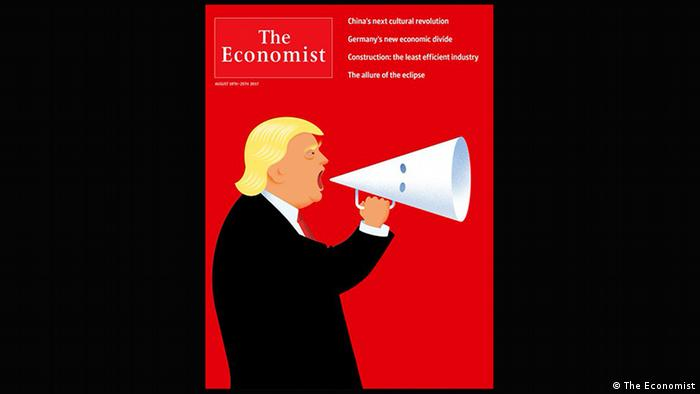 The Economist cover: Trump as the mouthpiece of white supremacists (The Economist)