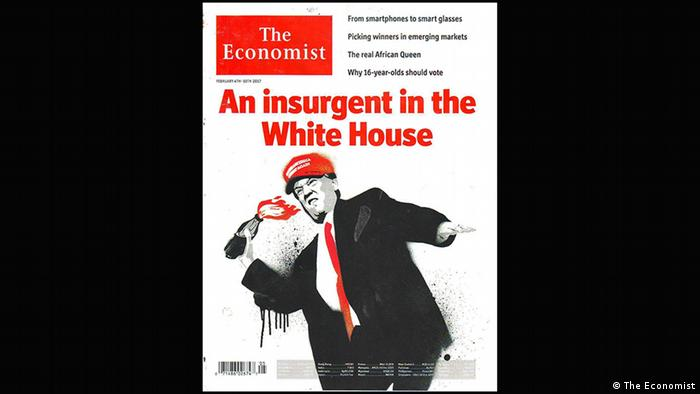 Donald Trump as an insurgent, February 2017 cover of The Economist (The Economist)