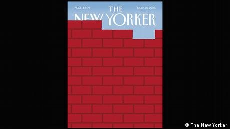 The New Yorker cover Nov. 21, 2016 - a red brick wall (The New Yorker)