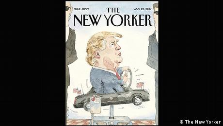 Donald Trump 'At the Wheel' - Jan 23, 2017 New Yorker cover (The New Yorker)