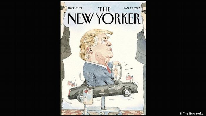 Cover von The New Yorker mit Donald Trump im Auto (The New Yorker)