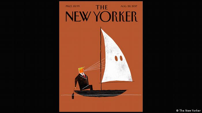 New Yorker cover 'Blowhard' with Trump cartoon Aug 28, 2018 (The New Yorker)