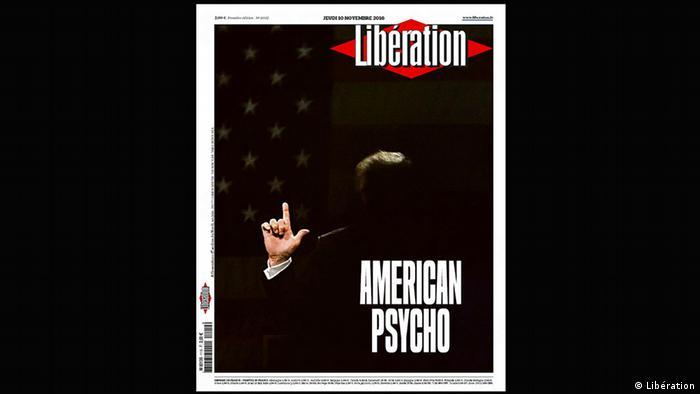 Liberation Donald Trump cover 'American Psycho' (Libération)