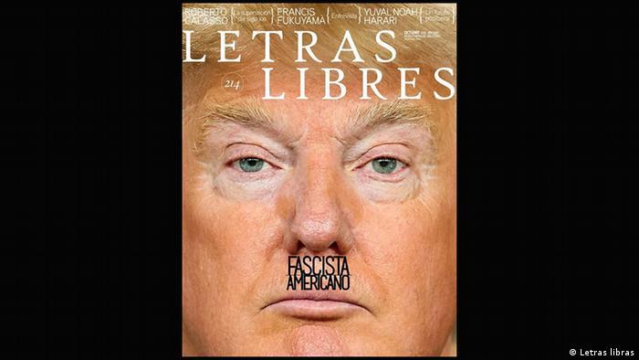 Magazine Letras libras cover featuring Donald Trump (Letras libras)