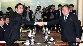 Südkorea Gespräche zwischen Nord- und Südkorea in Panmunjom (IANS)