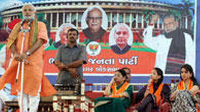 Ministerpräsident des indischen Bundesstaats Gujrat und BJP-Politiker Narendra Modi (UNI)