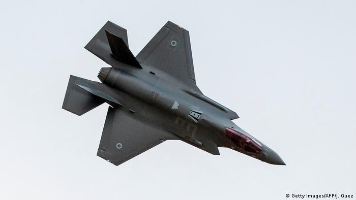 Israeli fighter jet, a stealth F-35 Lightning II flying at an air show