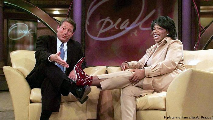 Oprah Winfrey Show with Al Gore (2000) (picture-alliance/dpa/L. Frazza)