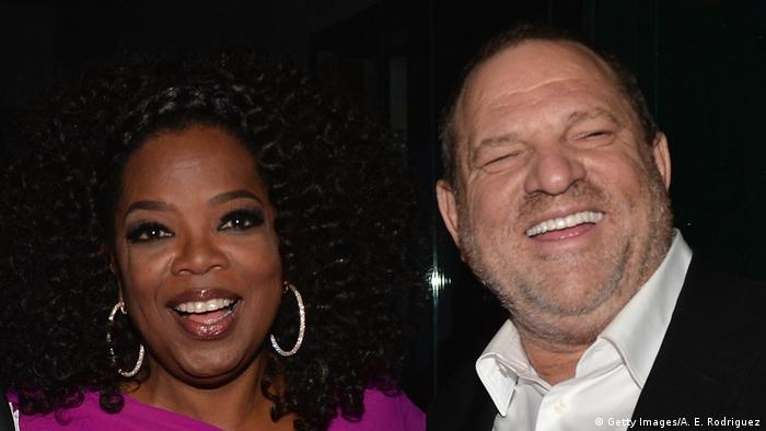 Oprah Winfrey and Harvey Weinstein (Getty Images/A. E. Rodriguez)