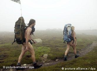 Nude hiking in Appenzell