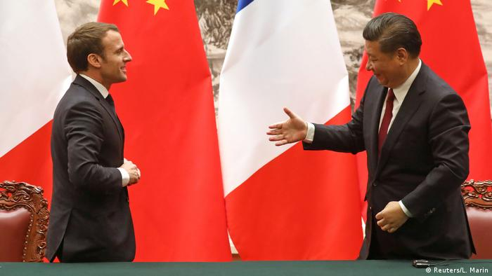 China Staatsbesuch Emmanuel Macron, Präsident Frankreich | Xi Jinping (Reuters/L. Marin)