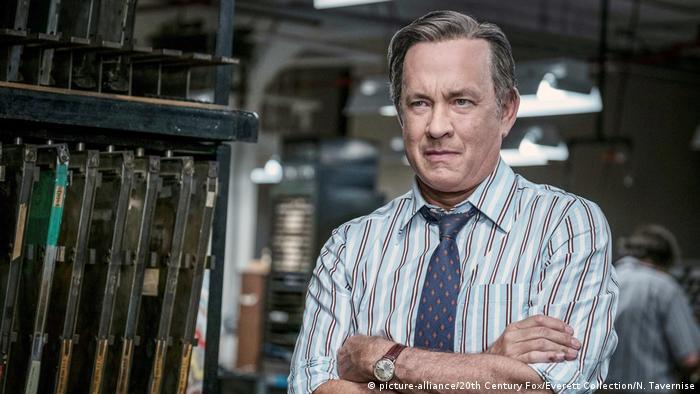Tom Hanks in the role of journalist Ben Bradlee in The Post