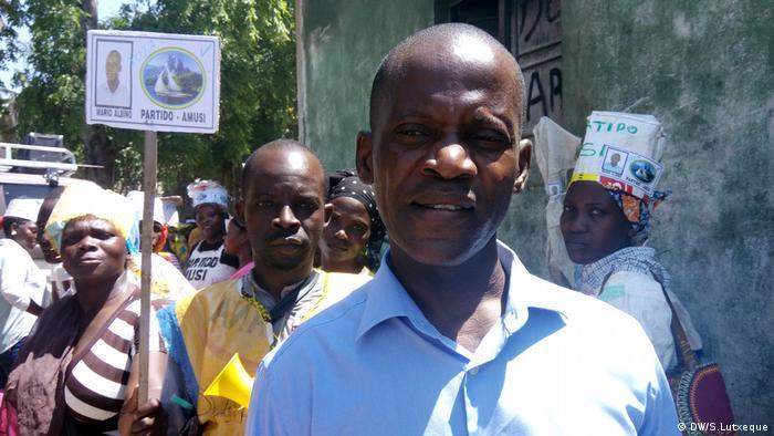 Mosambik, Mario Albino, AMUSI-Kandidat für Zwischenwahlen in Nampula (DW/S.Lutxeque)