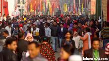 Visitors crowd the month-long Dhaka International Trade Fair 2018 in Sher-e-Bangla Nagar in Dhaka, Bangladesh