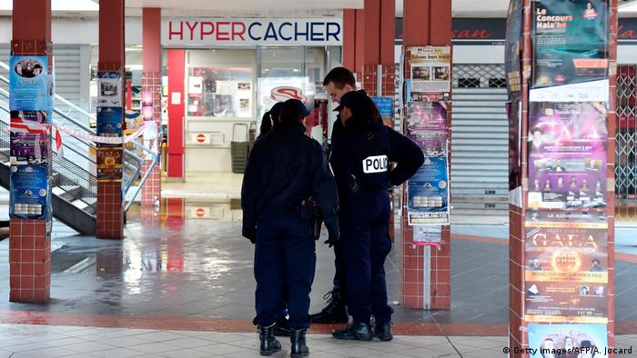 police officers outside the store