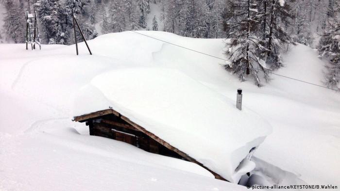Zermatt - House covered in snow