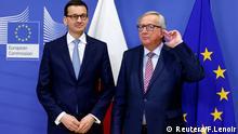 Brüssel, Mateusz Morawiecki und Jean-Claude Juncker