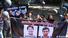 Myanmar Reuters Journalisten vor Gericht Demonstranten
