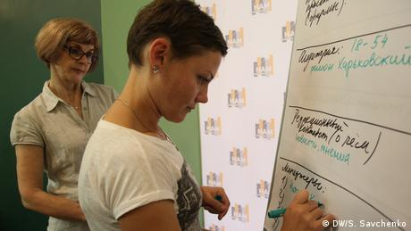 Natalia Kurdyukova, Direktorin des Medienprojekts Nakipelo in Charkiw (DW/S. Savchenko)
