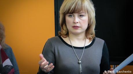 Olga Marijko, Redakteurin der Online-Zeitung Depo in Dnipro, Ukraine (DW/S. Savchenko)