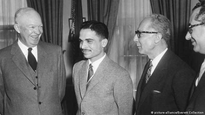 Präsident Eisenhower mit König Hussein I. von Jordanien (picture-alliance/Everett Collection)