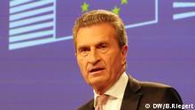 Brüssel, Günther Oettinger, EU-Kommissar für Haushalt und Personal
