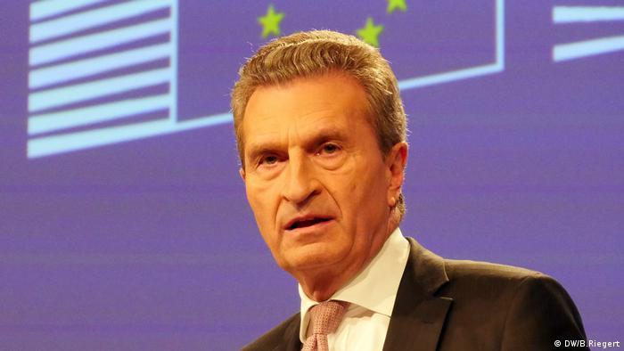 Brüssel, Günther Oettinger, EU-Kommissar für Haushalt und Personal (DW/B.Riegert)
