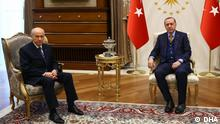 Türkei Recep Tayyip Erdogan und Devlet Bahceli