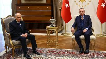 Erdoğan ve Bahçeli seçimlerin ardından Cumhurbaşkanlığı Sarayında görüşmüştü.