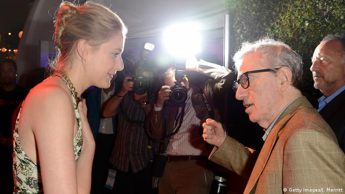 Greta Gerwig und Woody Allen (Getty Images/J. Merritt)