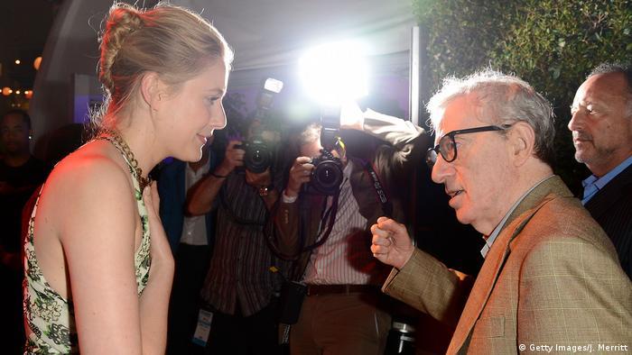 Greta Gerwig und Woody Allen (Getty Images/J. Merritt)