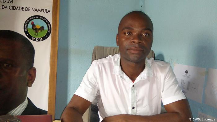 Mosambik Luciano Tarieque MDM-Delegierter in der Stadt Nampula (DW/S. Lutxeque)