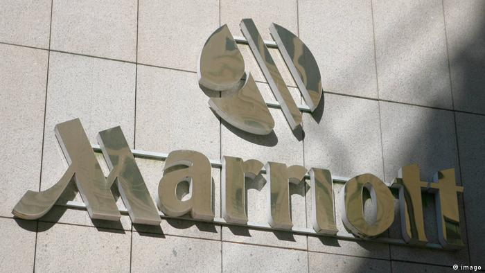 Logo der Hotelkette Marriott in Hamburg (imago)