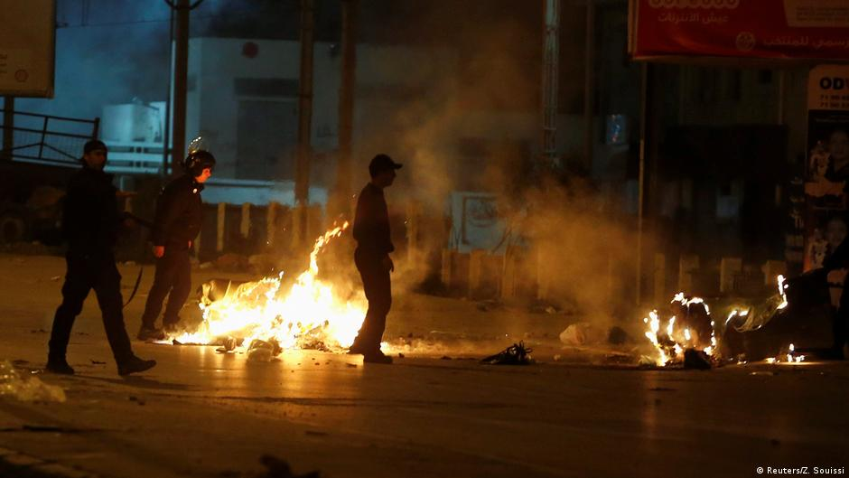 Tunisia hit by third night of violent protests