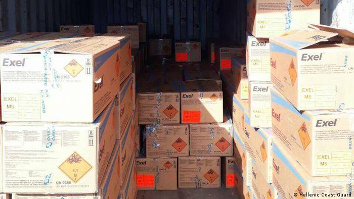 Griechenland Küstenwache stoppt Frachter mit 400 Tonnen Sprengstoff vor Kreta (Hellenic Coast Guard)