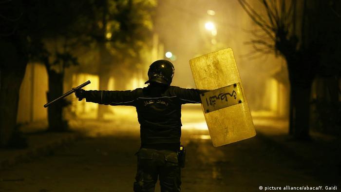 Protest in Tunesien