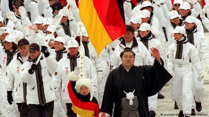 Форма немецкой сборной на Олимпиаде в Нагано.