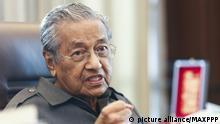Mahathir Mohamad, ehemaliger Premierminister Malaysias