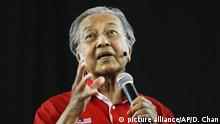 Mahathir Mohamad Malaysia (picture alliance/AP/D. Chan)