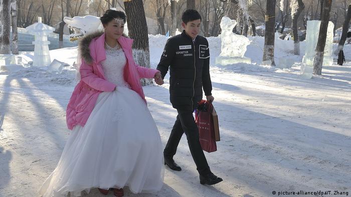 Harbin International Eis und Schnee Skulptur Festival (picture-alliance/dpa/T. Zhang)
